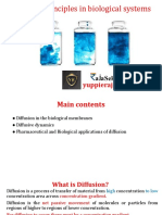 Diffusion Principles in biological systems