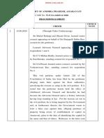 Andhra High Court Amaravati Land Scam Injunction Order
