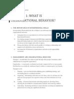 Organizational Behavior Ch 1