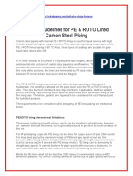 Design Guidelines for PE & ROTO Lined Carbon Steel Piping