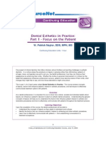 Dental Esthetics in Practice I