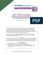 Dental Esthetics in Practice I