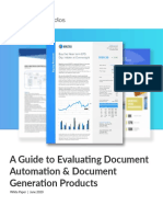 A Guide to Evaluating Document Generation Products