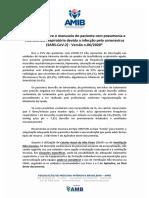 AMIB - Orientações para o Manuseio do paciente com Coronavírus - Versão 6 - Junho.2020