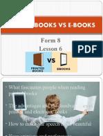 Printed books vs e-books