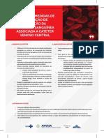 Cartaz_Prevenção da corrente sanguínea relacionada a Cateter Venoso Central