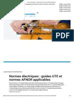 Normes électriques _ guides UTE et normes AFNOR applicables