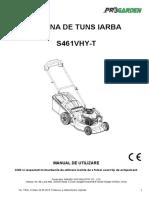 s461-mu.manual mașină de tuns iarba