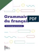 Livre Terminologie Grammaticale 2020 Français