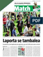 Noticia publicada el 8 de julio de 2008 en La Vanguardia.