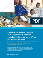 Gret Representation Des Usagers Et Dialogue Multi Acteurs Pour Le Suivi Des Services d Eau Potable Au Senegal 2019