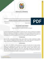 Decreto No. 25. Estado de Alarma en el Estado Aragua