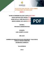 ACTIVIDAD 6 EVALUATIVA ANALISIS DEL CASO SOBRE SOBRE PROBLEMAS DE DIRECCION