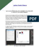 Photoshop-quitar fondo blanco a imágenes