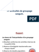 TP Difficultés de groupage sanguin