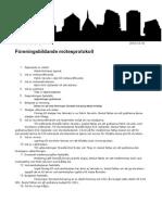 Föreingsbildande mötesprotokoll