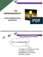 Taller de emprendimiento como generar ideas de negocio 2020