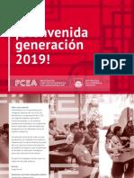 Librillo de Bienvenida a la Generación 2019