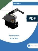 Manual da Impressora ATM 202 / PE73-001