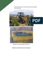 Reporte para cotizar mano de obra para reparación 416E propiedad de obras mineras.
