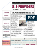 Payers & Providers – Issue of January 27, 2011
