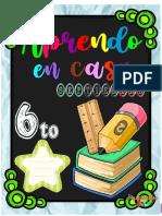 Cuadernillo de Trabajo 6to.
