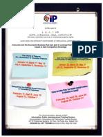 Intellectual Property Seminar Schedule
