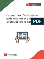 Instructivo Sesión 9 Desinstalar aplicaciones y eliminar archivos