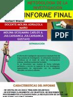 INFORME FINAL - M.INVESTIGACION