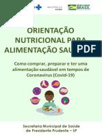 ALIMENTAÇÃO COVID-19 - PACIENTE SUSPEITO E CONFIRMADO - PDF