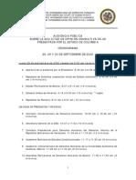 OEA Corte Cronograma