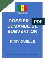 FORMULAIRE DE DEMANDE DE  SUBVENTION_INDIVIDUEL