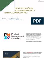 Procesos según el PMBOK para Iniciar la Planificación de Costos