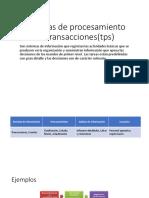Sistemas de procesamiento de transacciones(tps)