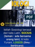 SOSIOLOGI_Johny Koynja, SH., MH