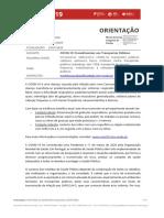 Orientação 027-2020 (atualizada a 20.07) - COVID-19 – Procedimentos nos Transportes Públicos