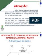 teoria da relatividade  - A RELATIVIDADE DE GALILEU.pptx