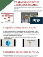 Competitive advantage enjoyed by AMUL