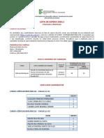 Lista de Espera 2020-2 - Campus Acopiara
