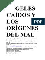 ÁNGELES CAÍDOS Y LOS ORÍGENES DEL MAL