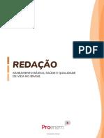 TEMA 2 - SETEMBRO - SANEAMENTO BÁSICO, SAÚDE E QUALIDADE DE VIDA NO BRASIL