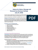 NCDHHS Interim Guidance for Salons Personal Care Businesses Phase 2