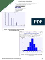 Calculateurs en ligne pour la statistique descriptive