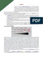 Cancer Génétique et Transformation cellulaire et Origine