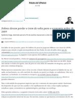 Pobres devem perder o trem de volta para a economia pobre de 2019 - 05_09_2020 - Vinicius Torres Freire - Folha