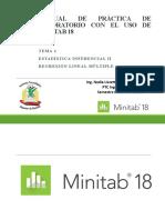 Como hacer regresión lineal multiple en minitab 18