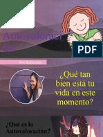 PPT LA AUTOVALORACIÓN