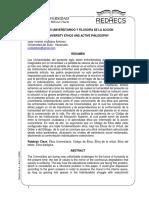 ETHOS UNIVERSITARIO Y FILOSOFIA DE LA ACCION