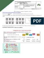 Terminos de la multiplicación- matematicas