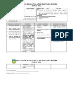 formato plan de aula 2020